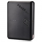 "Dual-USB ""13000mAh"" External Battery Power Charger w/ LED Indicator - Black"