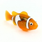 ROBO Flash Transparent Electronic Pet Toy Robot Fish - Light Orange + White + Black (2 x L1154)