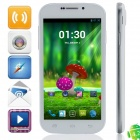 "C30 MTK6582 Quad-core Android 4.2.2 WCDMA Bar Phone w/ 5.0"", FM, 4GB ROM, Wi-Fi, GPS - White"