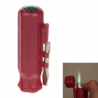 6552 Creative Portable Green Flame Windproof Lighter w/ Compass - Red