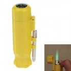 6552 Creative Portable Green Flame Windproof Lighter w/ Compass - Yellow