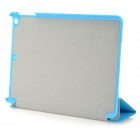 3-Fold Sand Pattern Protective PU Leather Case Cover Stand for RETINA IPAD MINI - Blue