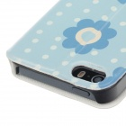 Fashionable Flower Pattern Protective PU Leather Case Cover Stand for IPHONE 5 /5S - Multicolored