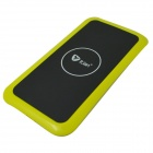 Itian K8 QI Standard Wireless Charger + Receiving Module for Samsung Galaxy S4 i9500 - Light Yellow