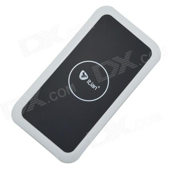Itian K8 QI Standard Wireless Charger + Receiving Module for Samsung Galaxy S4 i9500 - White + Black itian k8 qi standard wireless charger receiving module for samsung galaxy s3 i9300 white