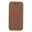 Fashionable Flip-Open Protective PU Leather Case Cover for IPHONE 5 / 5S - Brown + Orange