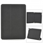3-Fold Sand Pattern Protective PU Leather Case Cover Stand for RETINA IPAD MINI - Black