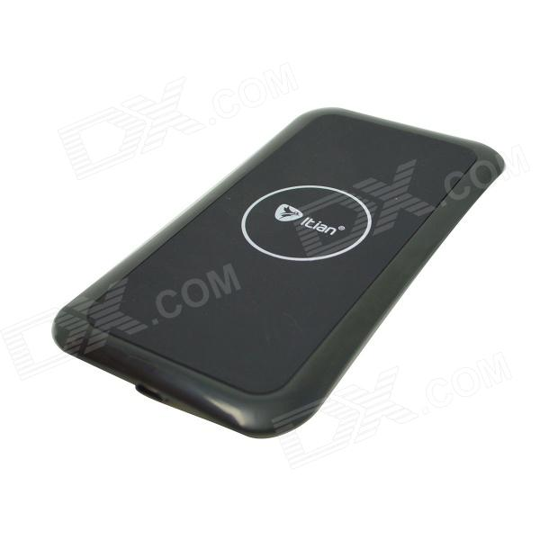 Itian K8 QI Standard Wireless Charger + Receiving Module for Samsung Galaxy S3 i9300 - Black itian k8 qi standard wireless charger receiving module for samsung galaxy s3 i9300 white