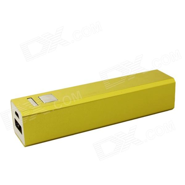 FF06 Universal Compact 3000mAh Rechargeable Li-ion Power Bank for Samsung / IPHONE + More - Green