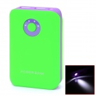 BP 8800mAh Portable Mobile Power Source Bank w/ LED Display / LED Flashlight - Green + Purple