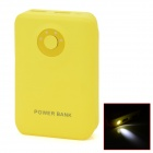 BP 8800mAh Portable Mobile Power Source Bank w/ LED Display / LED Flashlight - Buff