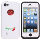 Redpepper Case Ultra-Thin Waterproof Dirtproof Snowproof Protective Case for IPHONE 5C - White