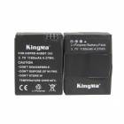 Kingma AHDBT-302 1180mAh Batteries + Charger for GoPro 3+ / 3 - Black