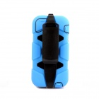 PANNOVO Silicone Shockproof Fallproof Dustproof Back Case for IPHONE 5 / 5S - Blue