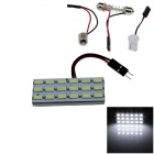 T10 / BA9S / Festoon 3.6W 360lm 18 x SMD 5630 LED White Light Car Reading / Panel Light - (12V)