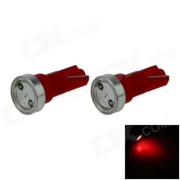 T5 1W 80lm 1 x COB LED Red Light Car Instrument Lamp / Indicator lamp - (DC 12V / 2 PCS)