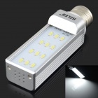 HZLED E27 6W 600lm 6000K 12 x SMD 5630 LED White Light Lamp Bulb - White + Silver (AC 220V)