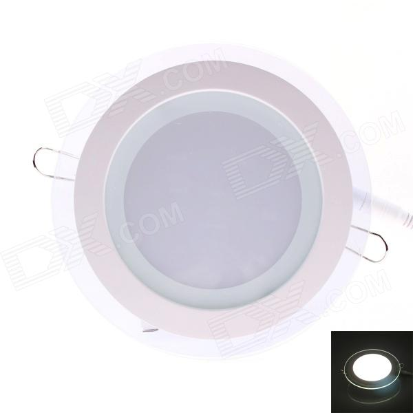 JOYDA-BL12Y WH DC Plug 12W 1200lm 6000K 24-LED White Round Ceiling Light - White (AC 85~265V)