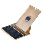 Bluetooth V3.0 64-Key Keyboard w/ Detachable Rotatable Aluminum Alloy Stand for IPAD AIR - Golden