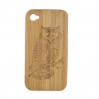 Owl Pattern Protective Bamboo Back Case for IPHONE 4 / 4S - Brown