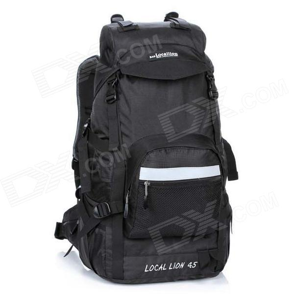 LOCAL LION 394 Outdoor Travel Nylon Mountaineering Backpack Bag - Black (45L) бритва panasonic es rw30