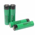 Panasonic 3100mAh 18650 Li-ion Battery Transparent PVC Anode Protection with Case - Green (4 PCS)