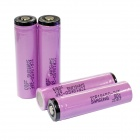 Samsung 2600mAh 18650 Li-ion Batteries Transparent PVC Anode Protection w/ Case - Pink (4 PCS)