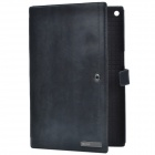 Zenus Business Style Protective Genuine Leather Case Cover Stand for Sony Xperia Tablet Z - Black
