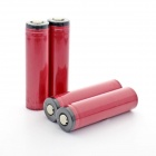 Sanyo 2600mAh 18650 Li-ion Battery Transparent PVC Anode Protection with Case - Red (4 PCS)