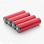 Sanyo 2600mAh 18650 Li-ion Battery Transparent PVC Cathode Protection with Case - Red (4 PCS)