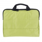 "Tee 14"" Shock-Proof Water Resistant One-shoulder Sleeves Bag w/ Handle for Notebook - Green"