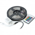 60W 2000lm 5050-300 SMD LED RGB Light Strip w/ 24-key Controller - White (5m)