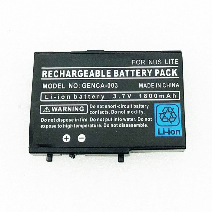 Replacement 3.7V 2000mAh Li-Ion Battery Pack with Screwdriver for NDS LiteBatteries &amp; Chargers<br>- Replacement high capacity 3.7V 2000mAh rechargeable Li-Ion battery pack foryour NDS Lite console- Comes with a small screwdriver for easy change the battery by yourself<br>