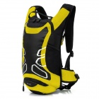 LOCAL LION 450 Cycling Nylon Backpack Bag - Black + Yellow (12L)