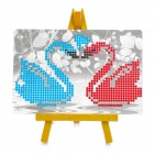 DIY Decoration Swan Patterns Mini Diamond Painting - White + Red + Multi-Colored (10 x 15cm)