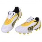 TIEBAO Outdoor PU Rubber Football Soccer Shoes - White + Yellow (42)