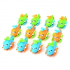 Education Small Clockwork Chain Helicopter Toy for Kids - Green + Blue + Multi-Colored (12 PCS)