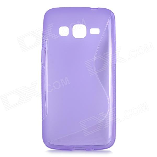 S Style Anti-Slip Protective TPU Back Case for Samsung Galaxy Express 2 G3815 - Purple protective pc tpu back case for iphone 5 w anti dust cover lavender purple