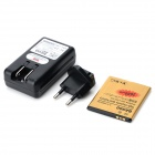 3.7V 2680mAh batteri + USB US Plugger batterilader + EU Plug Adapter for Sony LT29i / ST26i