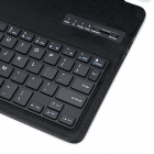 Detachable Bluetooth V3.0 64-Key Keyboard + PU Case w/ Stand for IPAD AIR - Black