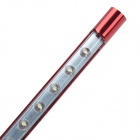 S-611 1W 10-LED Multi-Function Ultra Bright USB LED Lighting Lamp for Computer - Deep Red