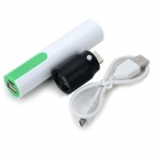 Universal 3.7V 18650 Power Bank Case w/ 1W USB Lamp Head for IPHONE / IPAD - White + Green