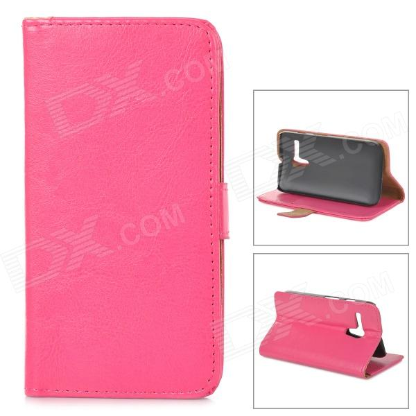 Protective PU Leather Case Cover Stand w/ Card Holder Slots for Motorola MOTO G - Deep Pink cover case for huawei p9 lite color bells pu tpu leather with stand and card slots magnetic closure