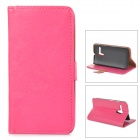 Protective PU Leather Case Cover Stand w/ Card Holder Slots for Motorola MOTO G - Deep Pink