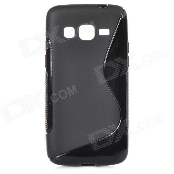 S Style Protective TPU Back Case for Samsung Galaxy Express 2 G3815 - Black 8x zoom telescope lens back case for samsung i9100 black
