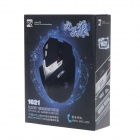 R8 1621 Neuf loup filaire USB 600-2400DPI optique 9D Gaming Mouse - Black + Silver (180cm-Cable)