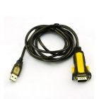 XINDAYING USB 2.0 Male to 9-Pin RS232 Serial Port Adapter Cable - Black (170cm)