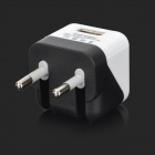 USB to Micro USB Data Charging Cable + EU Plug Power Adapter for Samsung - Black + White