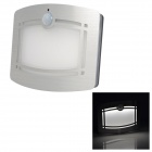 Intelligent Wireless Optical Control PIR Sensor 10 x LED White Wall Lamp - Silver + White (4 x AA)