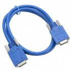 CMI CAB-SS-2626x DTE Male to DCE Male Adapter Cable - Blue